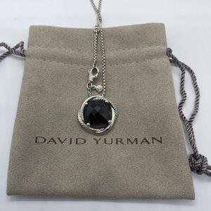 David Yurman Infinity Necklace with Garnet